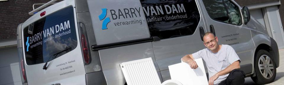 Barry van Dam verwarming sanitair onderhoud